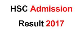 HSC Admission Result 2017 xiclassadmission result