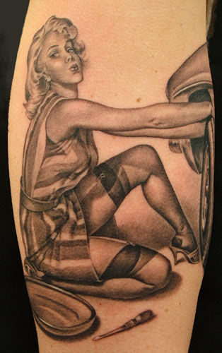 20 Pin Up Girl Half Sleeve Tattoos Women Ideas And Designs