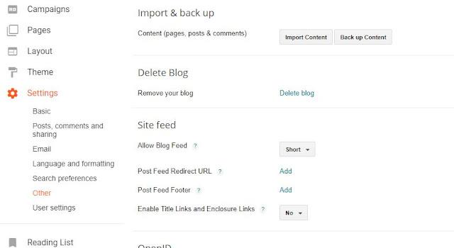 Backing up your Blogger Blog.