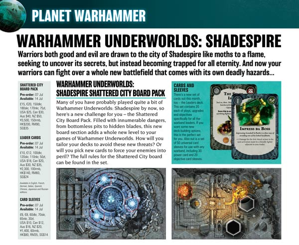 July White Dwarf Preview: Specialist Games