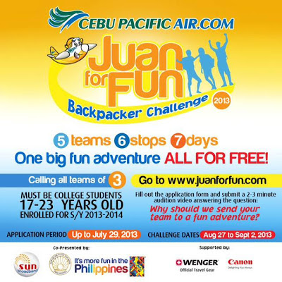 Cebu Pacific's Juan for Fun Backpacker Challenge,promo cebu pacific
