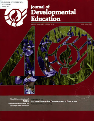 Cover design for the Journal of Development Education.