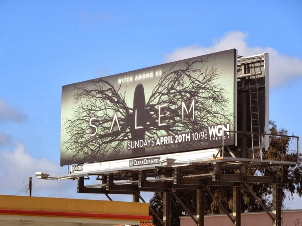 Salem TV series launch billboard