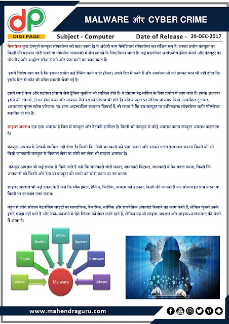 DP   IBPS SO Special : Malware and Cyber Crime   29-12-2017