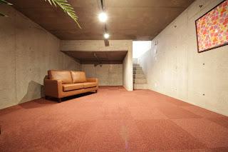 北矢三 デザイナーズ 鉄筋コンクリート 地下室 打ちっぱなし シアタールーム