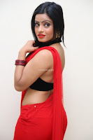 Aasma Syed in Red Saree Sleeveless Black Choli Spicy Pics ~  Exclusive Celebrities Galleries 035.jpg