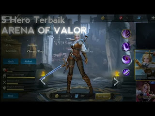 hero terbaik di arena of valor