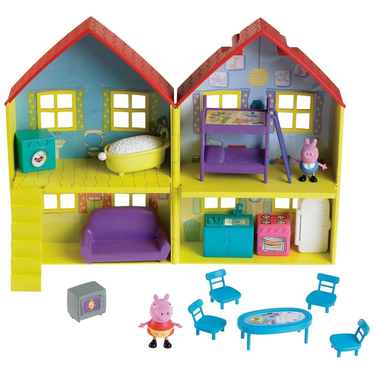 Room With Lots Of Books Free Wiring Diagram For You Dolls House New Peppa Pig Toys An Adorable Way To Play Lille Punkin Small