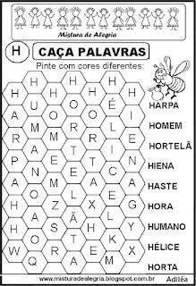 Caça palavras letra H