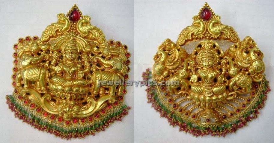 Gold Lakshmi Devi Lockets Latest Jewellery Designs