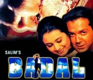 Poster Of Bollywood Movie Badal (2000) 300MB Compressed Small Size Pc Movie Free Download worldfree4u.com
