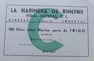 Harinera de Binéfar Vidal Soteras