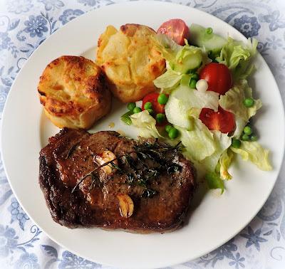 Butter, Herb & Garlic  Basted Steaks