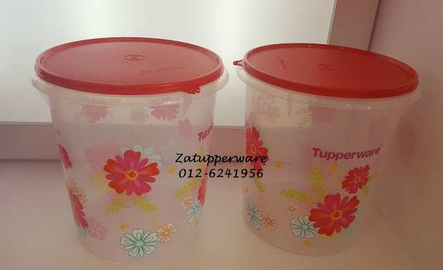 Tupperware Floral Blossom Giant Canister (2) 8.6L