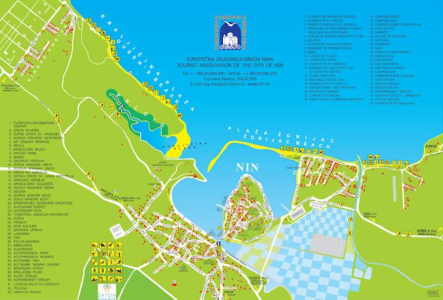 Mapa de Nin, Croacia