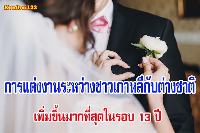 การแต่งงานระหว่างชาวเกาหลีกับต่างชาติ