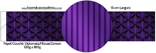 Purple with Arabesques and Stripes Free Party Printables.