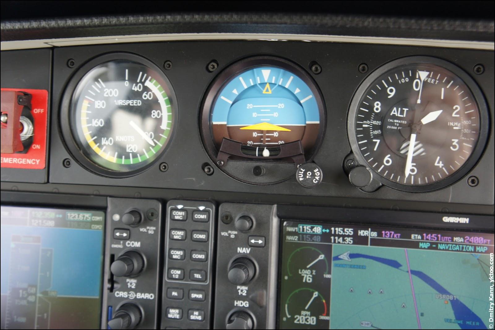 Wind speed meter, attitude indicator, altimeter.