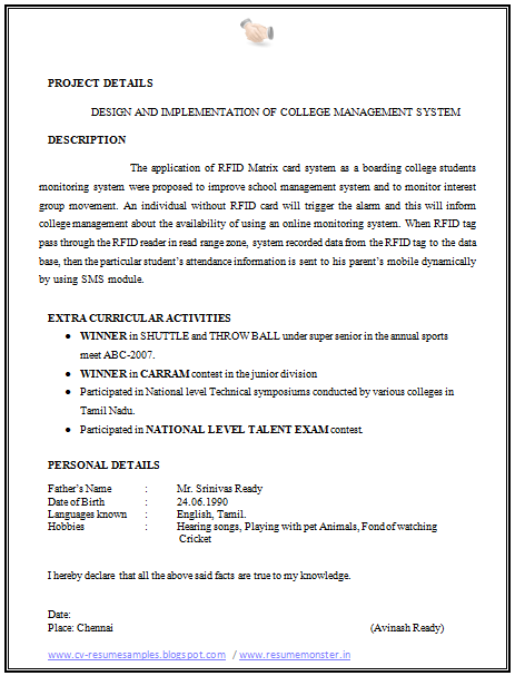 Date Of Birth Format For Cv   Create professional resumes online ...
