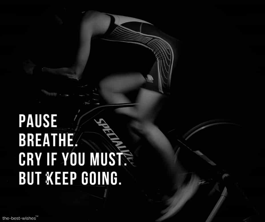 Image with Quote on Breathing and Starting again.