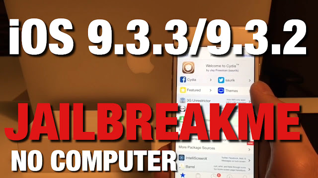 Jailbreak 9.3.3 No Computer, without Apple ID Password, How To Install