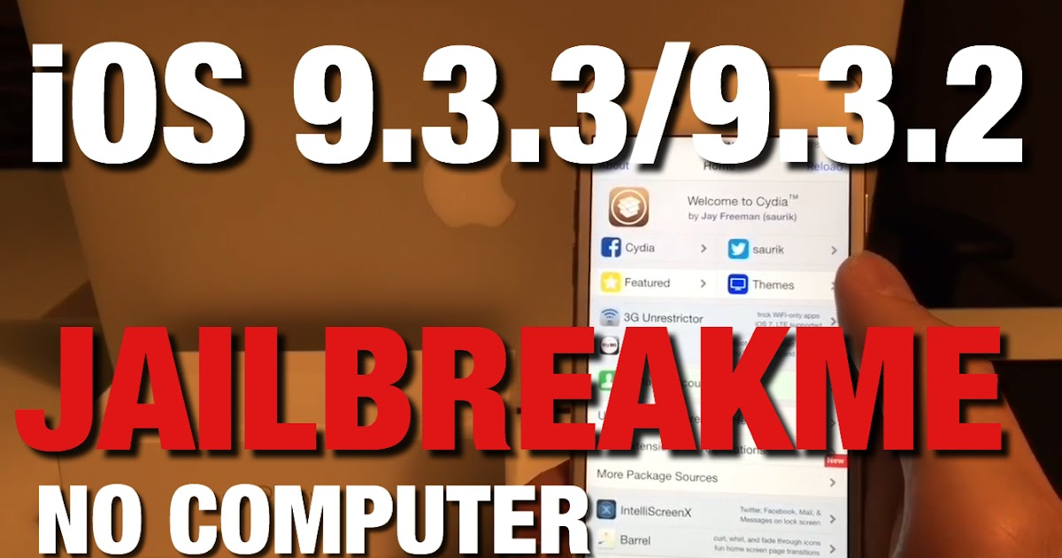 Jailbreak 9 3 3 No Computer, without Apple ID Password, How
