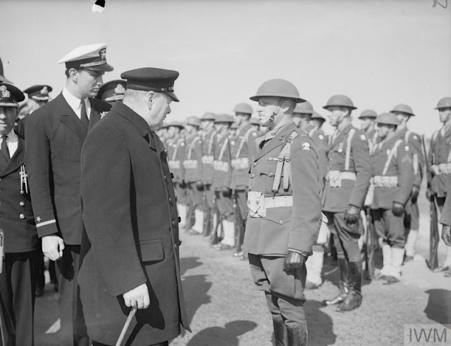 Winston Churchill inspects US marines in Iceland, 16 August 1941 worldwartwo.filminspector.com