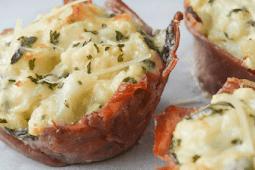 Keto Three Cheese Cauliflower Mac and Cheese Cups