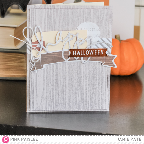 Pink Paislee Cedar Land and Memorandum make for some not so spooky Halloween Cards. @jamiepate for @pinkpaislee