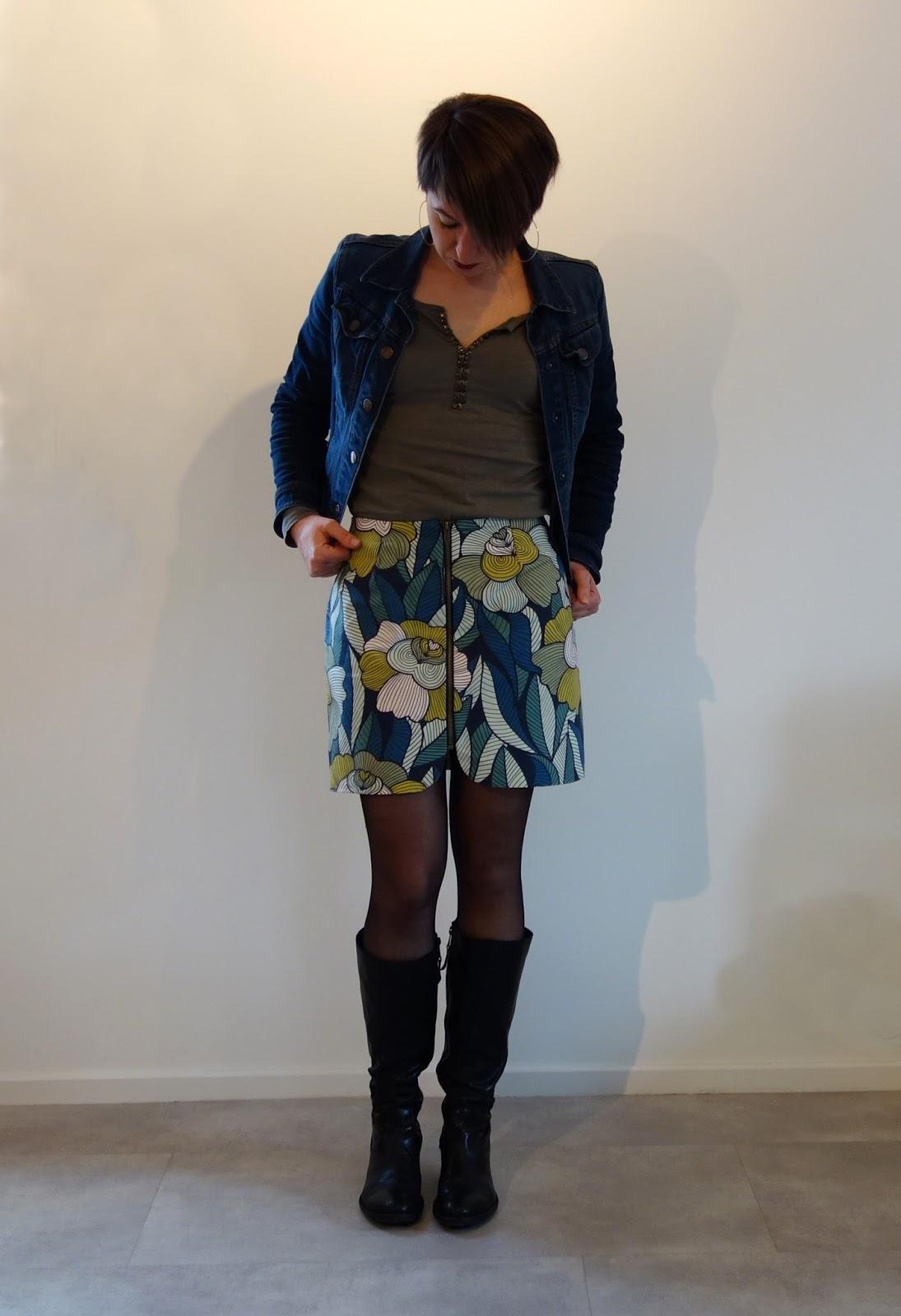 couture femme sister mini fleurie