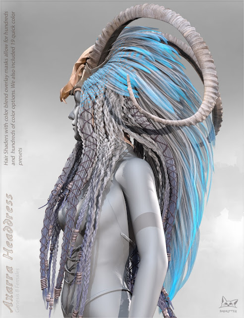 Axarra Headdress for Genesis 8 Female