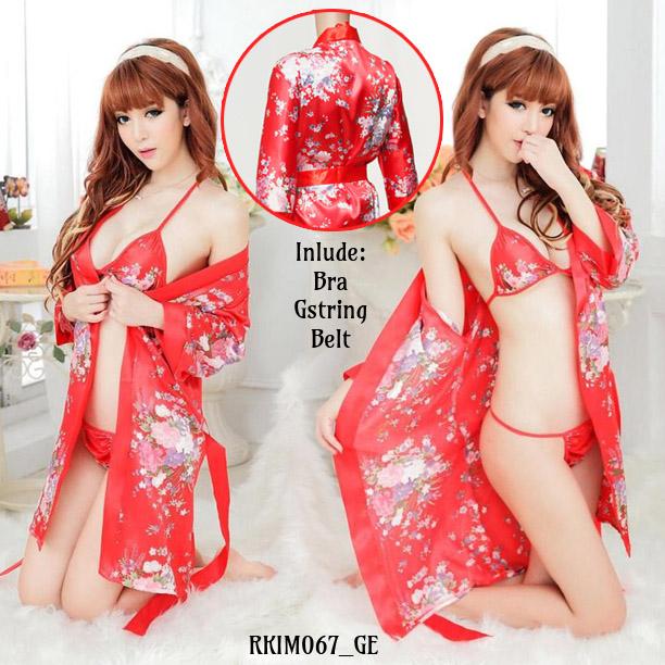 Jual Lingerie Seksi Kimono Merah (RKIM067) Produk Import 100% Berkualitas Terbaik Nyaman dipakai dengan Harga Grosir dan Ecer Termurah.
