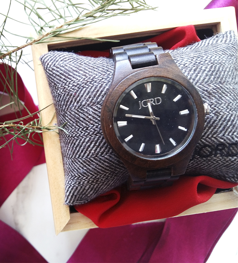 Jord wood watch sandalwood unique men's watch blogger