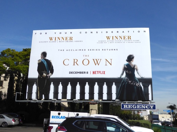 Crown season 2 FYC billboard