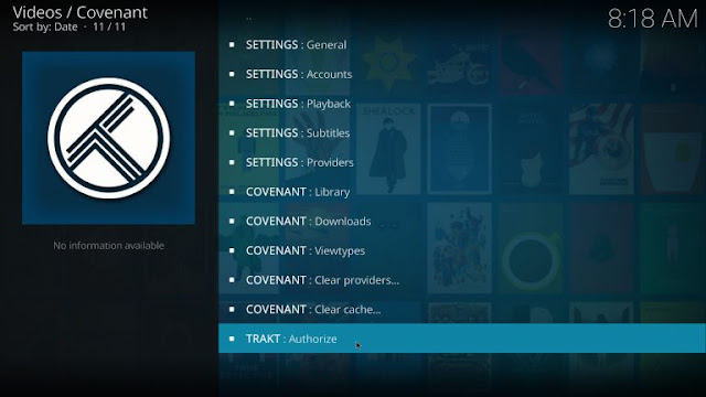 how to add covenant search to kodi