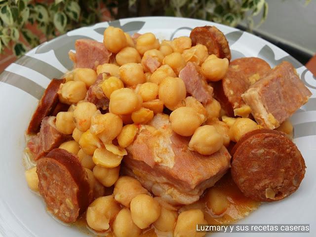 GARBANZAS COMPUESTAS(cocina tradicional)