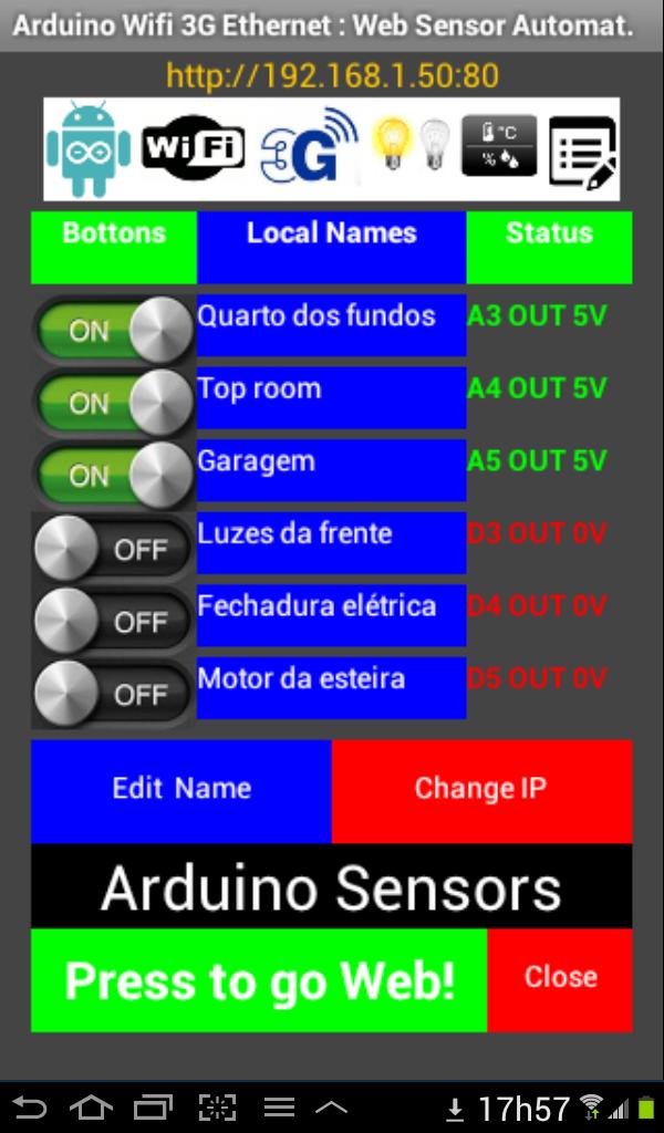 Arduino Wifi 3G Ethernet: Web Sensor Automation   WIZnet Museum