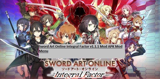 Sword Art Online Integral Factor v1.1.1 Mod APK Mod Menu