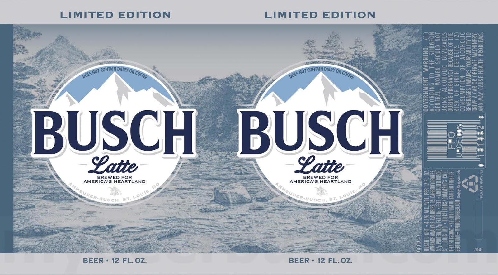Busch Beer Adding Busch Latte Cans - mybeerbuzz com
