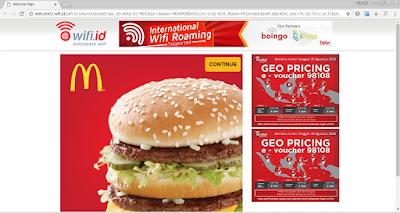 Cara Login dan Menggunakan Wifi McDonalds di Seluruh Indonesia