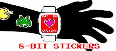8-bit Pixel Stickers - watchface para Pebble by dPunisher
