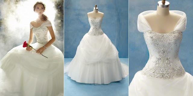 vestido noiva princesa disney wedding dress bela fera classico conto de fadas simples