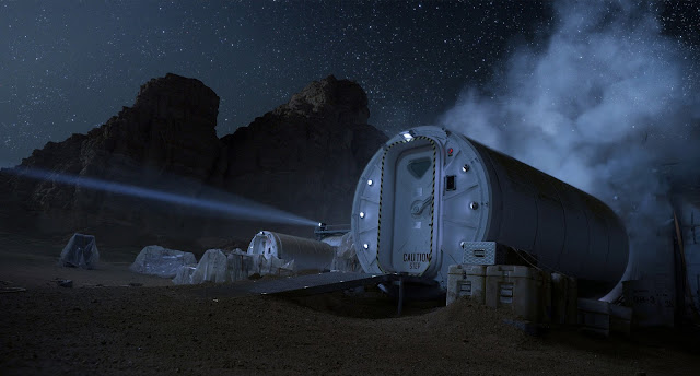 Mars base image from The Martian movie