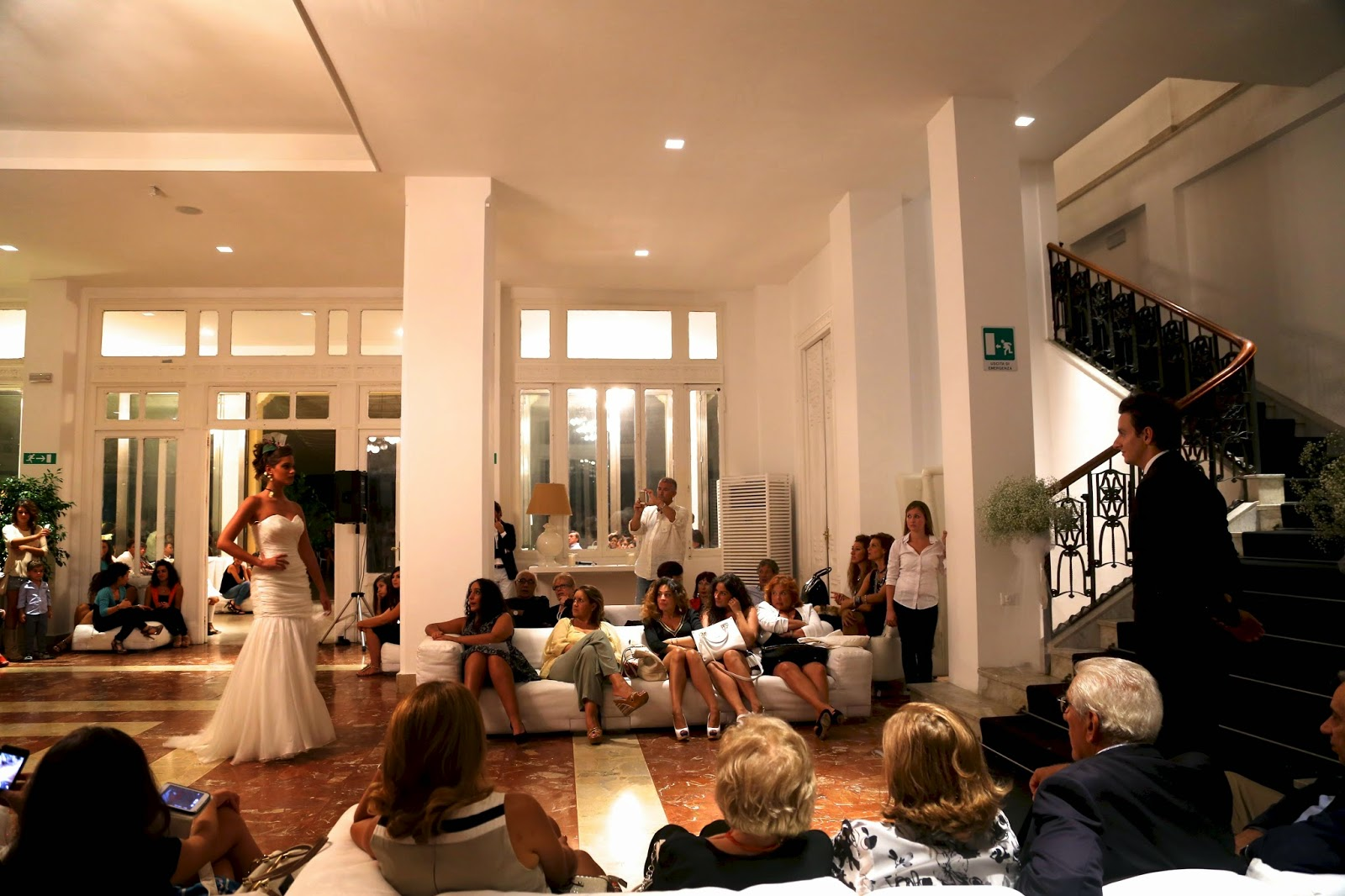 Wedding dress fashion show, Mondello, Sicily