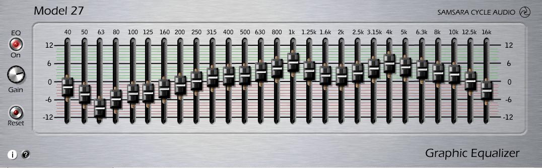 Samsara Cycle Audio: Model - 27 Graphic EQ FREE VST