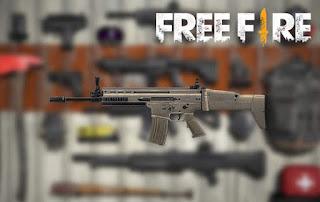 senjata terbaik free fire scar