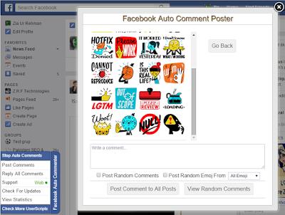 Facebook Auto Comment