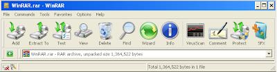 Windows 7 WinRAR theme Snapshot