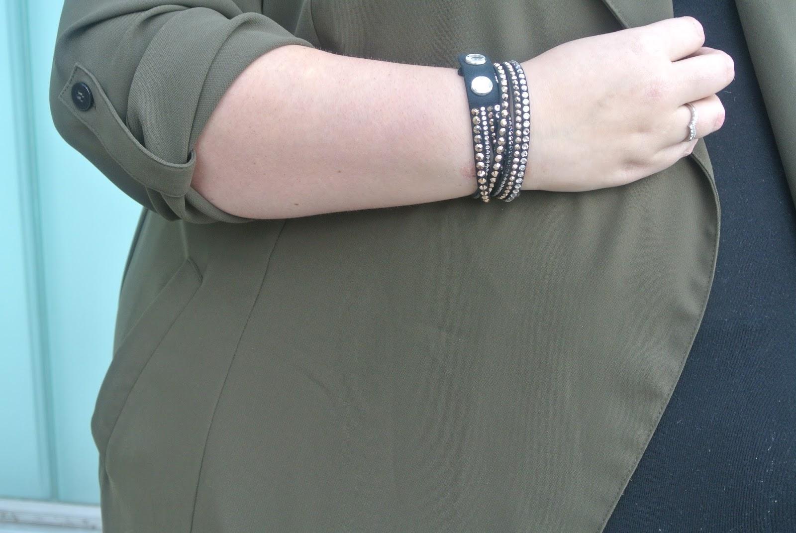 Plus Size Khaki Duster Jacket Coat Image