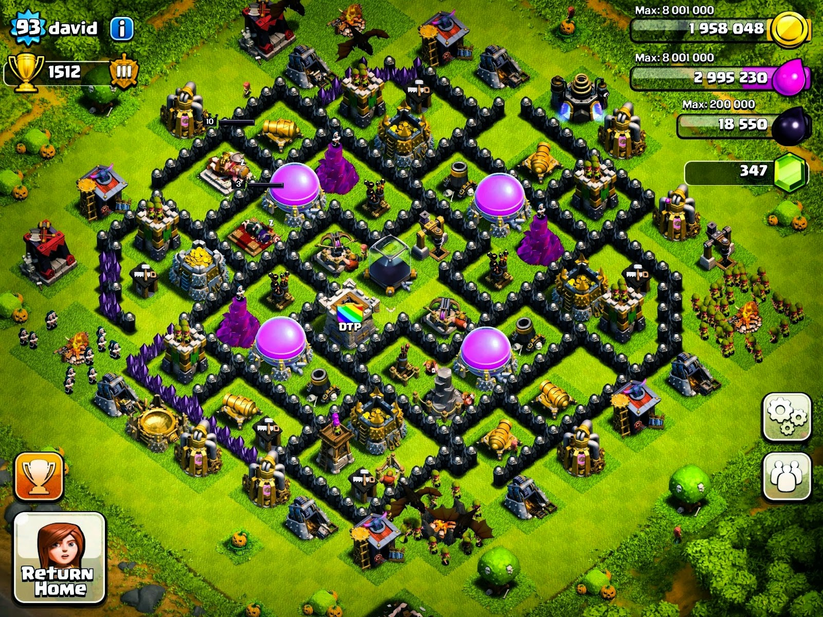 Clash Of Clans Base Pertahanan Terbaik Town Hall Level 9 Clash